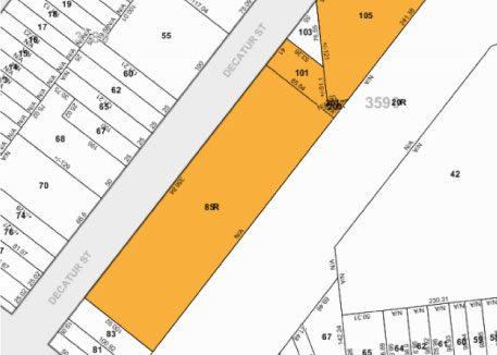Tax Map 59 00 Decatur St