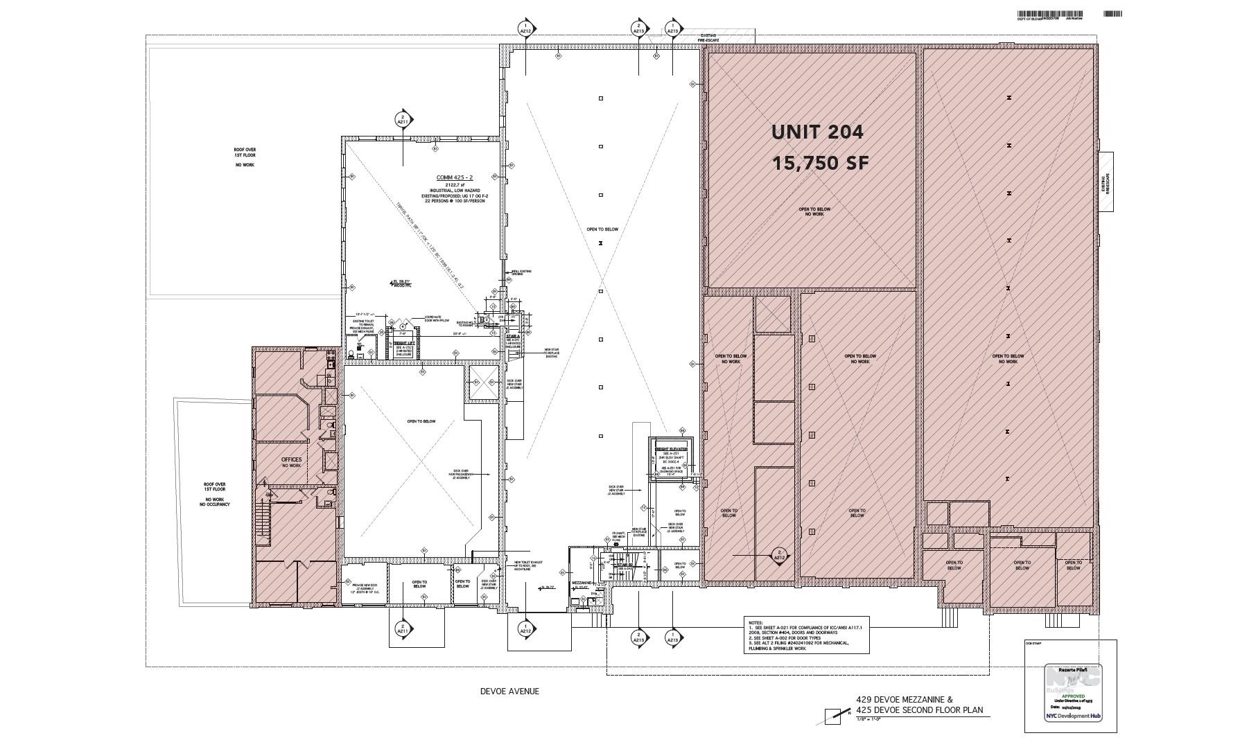 Second Floor and Mezzanine