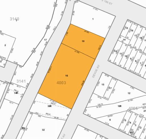 Tax Map 425 Devoe Ave